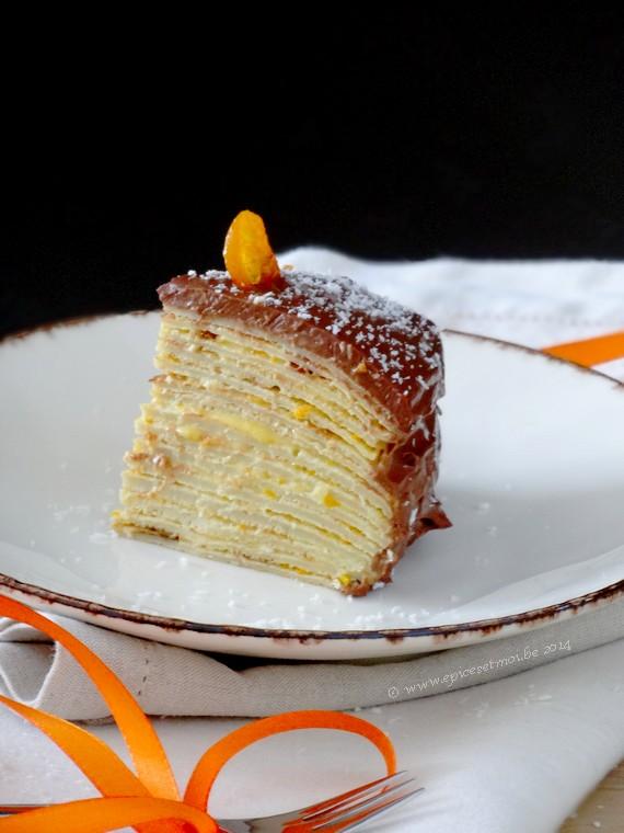 Gâteau de crêpes coco choc' à la crème de kumquats