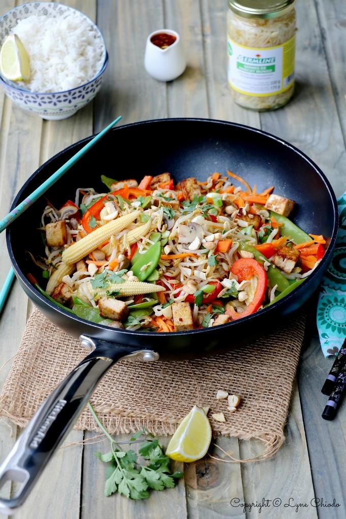 Epices & moi - Wok de légumes au tofu et haricots mungo