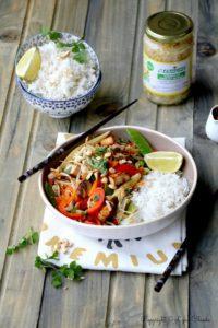 Epices & moi - Wok de légumes au tofu et haricots mung