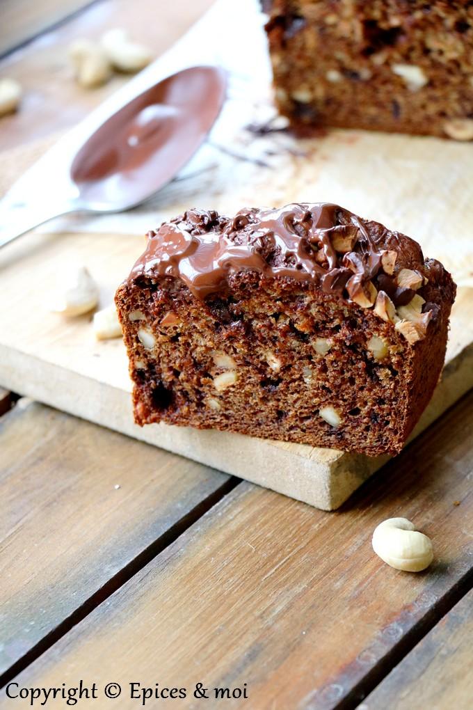 Epices & moi - Banana bread au chocolat, sarrasin et cajou