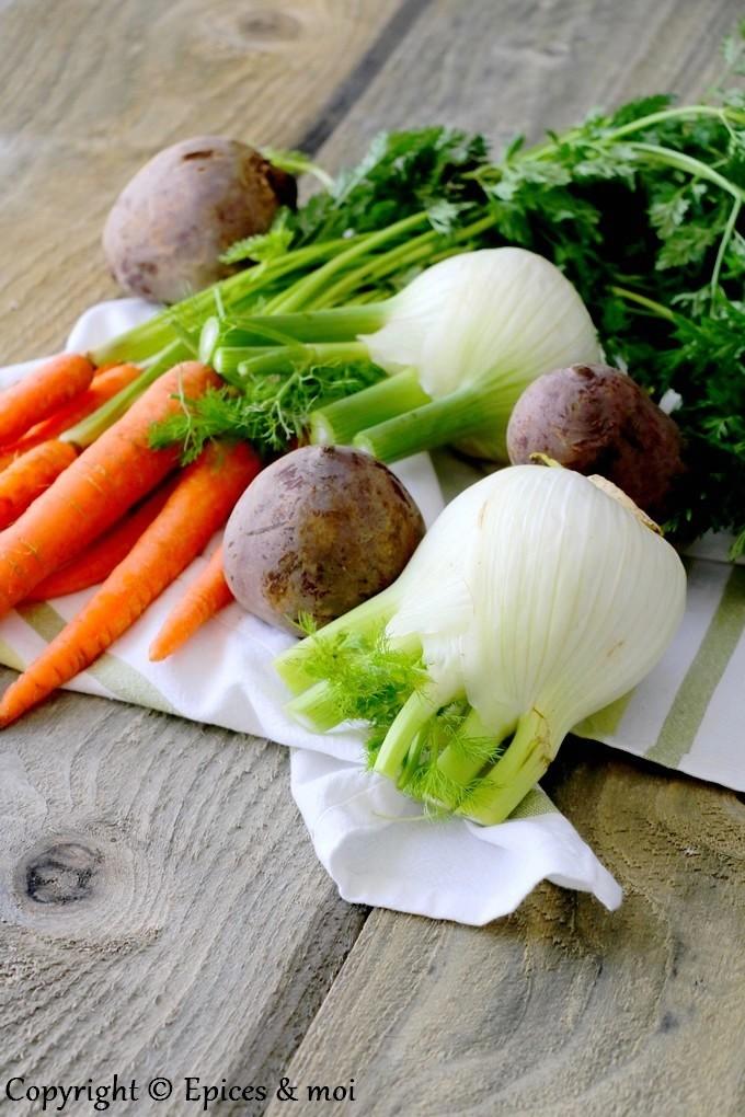 Epices & moi - Riz rouge complet aux légumes et pois chiches rôtis
