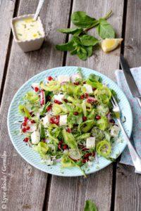 Epices & moi - Salade printanière de riz, asperges, feta & pousses de cresson