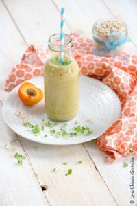 Epices & moi - Smoothie aux abricots, courgette et basilic germé