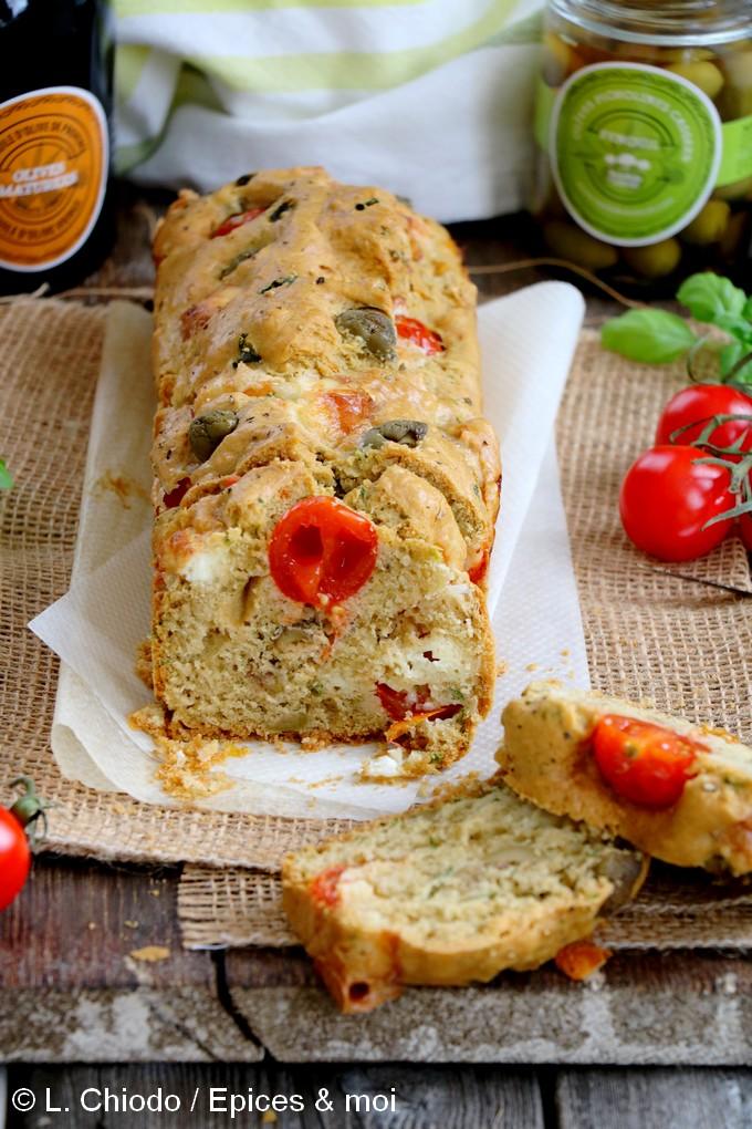 Epices & moi - Cake aux olives, tomates cerises et Picodon