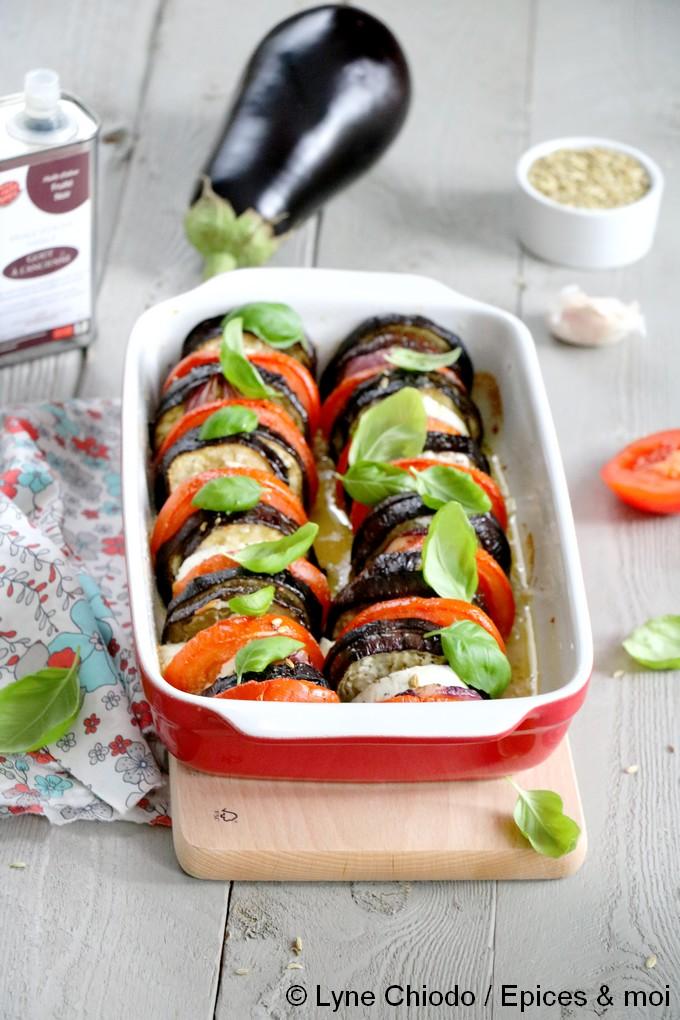 Epices & moi - Tian aux aubergines, tomates et chèvre