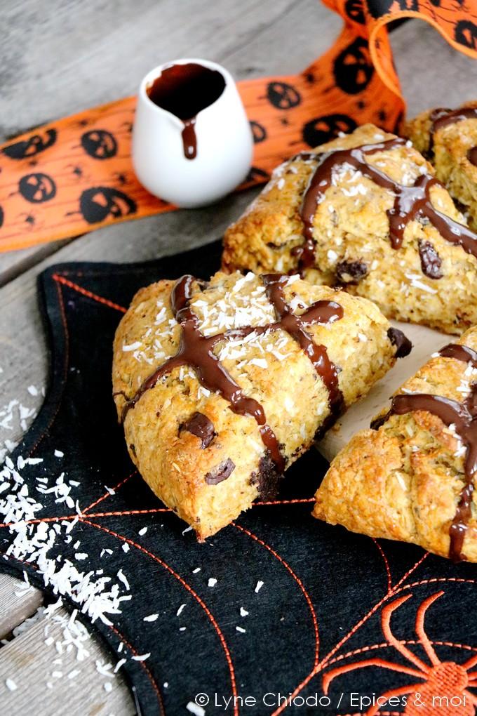 Epices & moi - Scones butternut, coco et chocolat