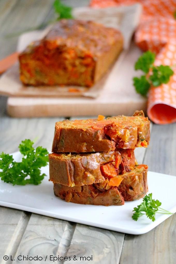 Cake aux carottes et à l'épeautre
