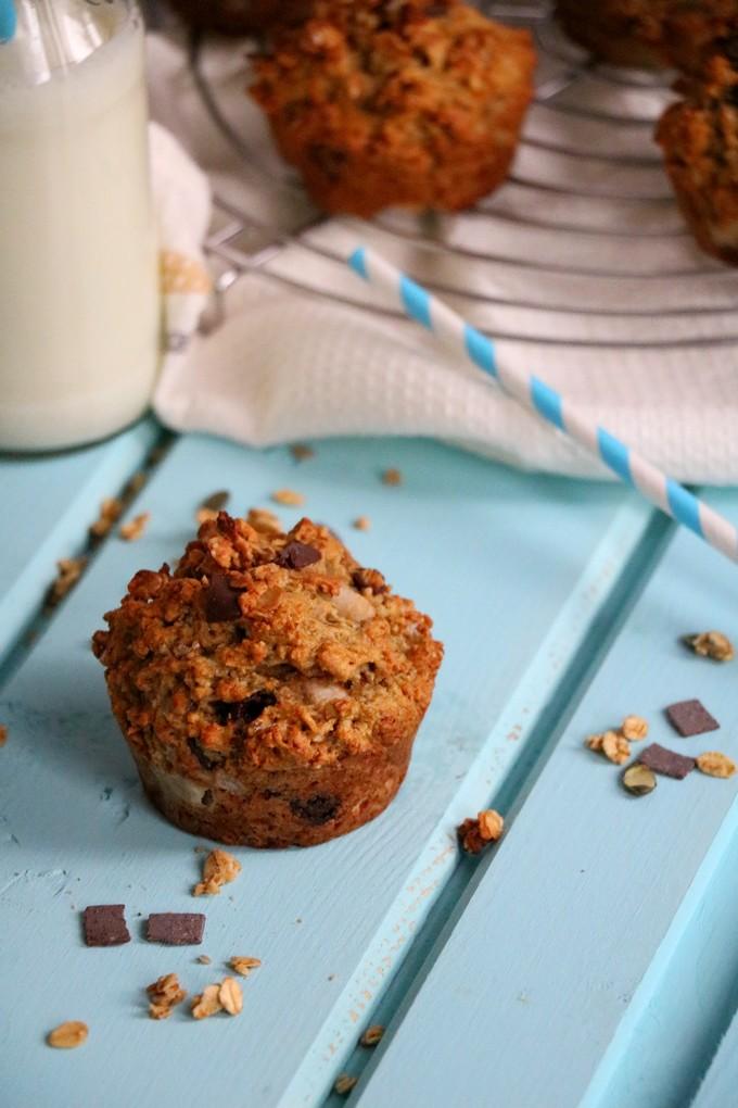 Epices & moi - Muffins au granola miel-amandes-chocolat