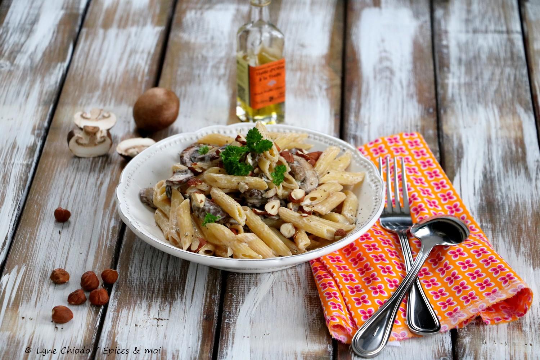 Epices & moi - Penne aux champignons et huile de truffes