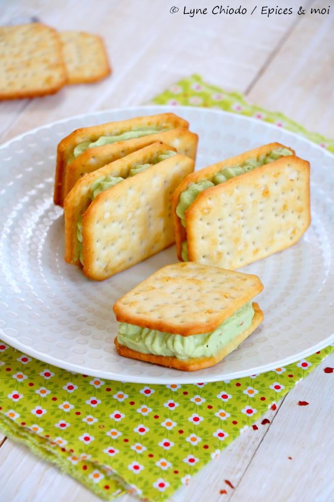 Epices & moi - Sandwichs de Tuc®à la crème de guacamole