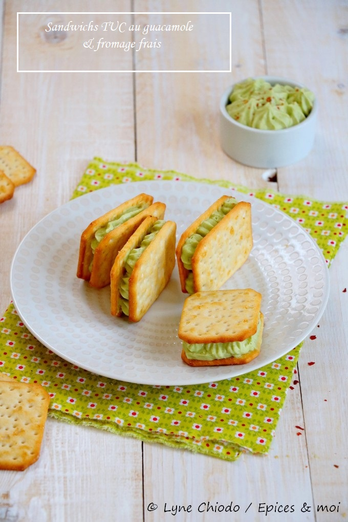 Epices & moi - Sandwichs de Tuc® à la crème de guacamole