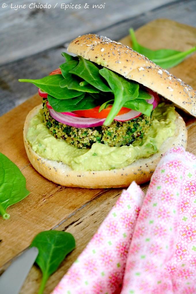 Epices & moi - Green burger printanier aux épinards