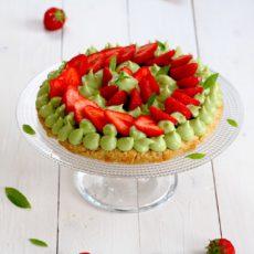 Epices & mi - Tartes aux fraises, crème à l'avocat et verveine