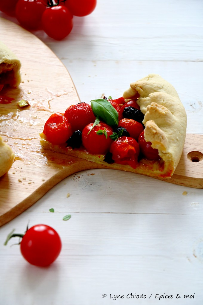 Epices & moi - Tartes aux tomates cerises, olives & Pili pili