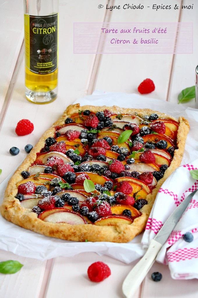 Epices & moi - Tarte aux fruits d'été, citron & basilic