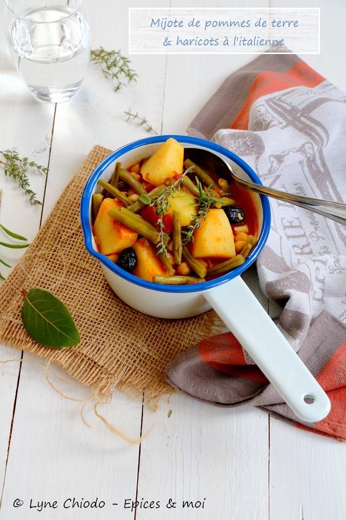 Epices & moi - Mijoté de pommes de terre et haricots verts à l'italienne