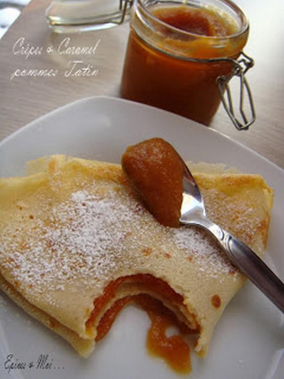 Crêpes au rhum & Caramel de pommes Tatin
