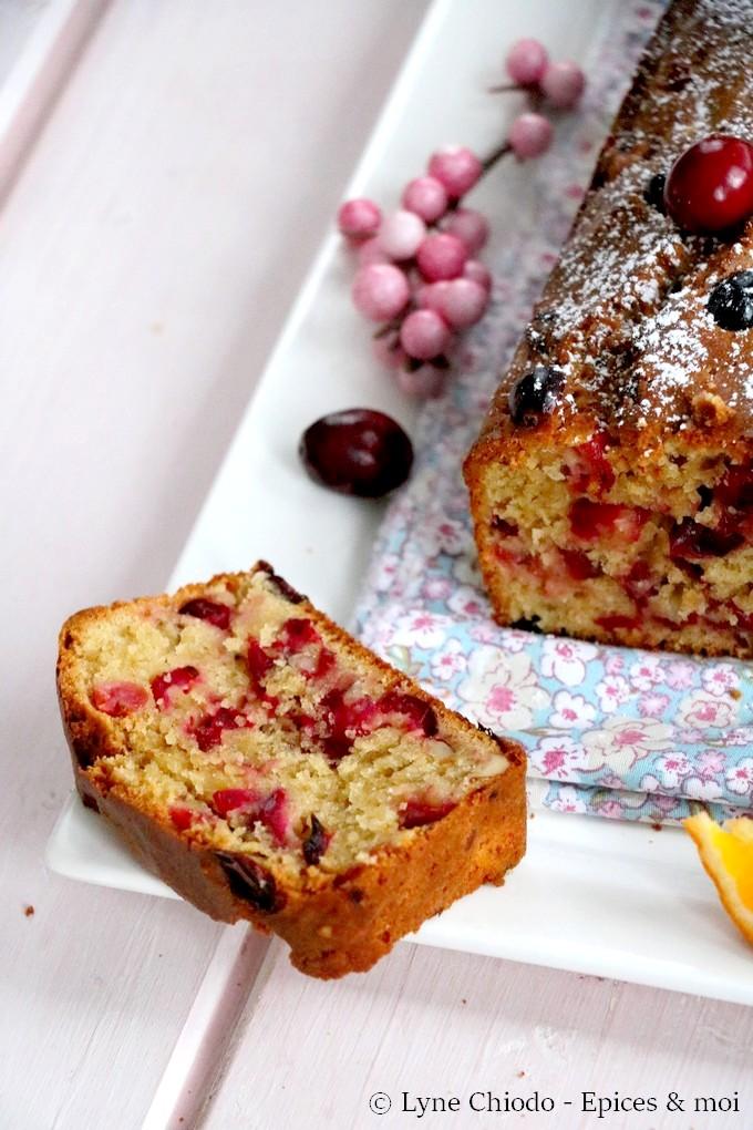 Epices & moi - Cake aux cranberries, oranges sanguines et amandes